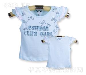 贝恩宝新款女童夏装短袖套头T恤