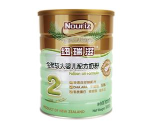 纽瑞滋金装较大婴儿配方奶粉2段1000克