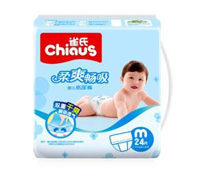 雀氏柔爽畅吸纸尿裤