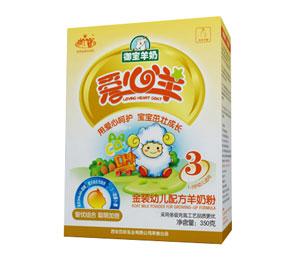 爱心羊金装幼儿配方羊奶粉3段