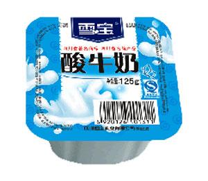 雪宝塑杯原味酸牛奶(四联杯)