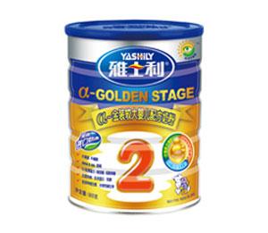 雅士利a金装900g罐装较大婴儿配方奶粉2段
