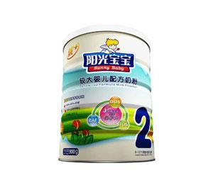 银桥阳光宝宝优+较大婴儿配方奶粉2段