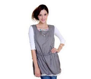 优加银纤维防辐射孕妇服-彩扣抽带裙-赠银肚兜