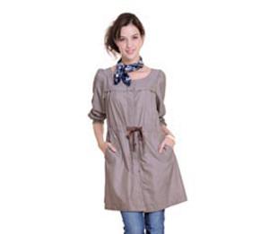 优加银纤维防辐射服-时尚风衣-赠100%银离子吊带