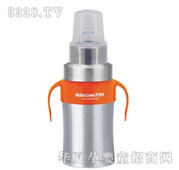 �I宝乐D型不锈钢奶瓶橘黄260ml