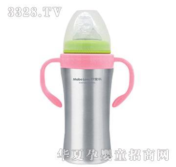 �I宝乐E型不锈钢奶瓶粉红